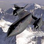 World's fastest plane, the Lockheed SR-71 Blackbird.