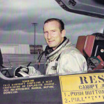 Bob in the Blackbird prototype cockpit