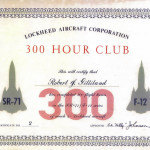 300 Hour Club Certificate