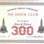 300 Hour Club Certificate