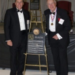 Bob, with his son Robert, at Bob's induction into the Tennessee Aviation Hall of Fame.